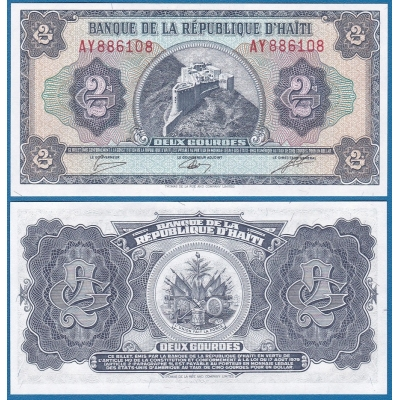 Haiti - bankovka 2 Gourdes 1979 UNC