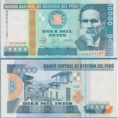 Peru - bankovka 10000 Intis 1988 UNC