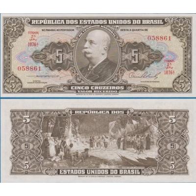 Brazílie - bankovka 5 Cruzeiros 1953-1959 UNC