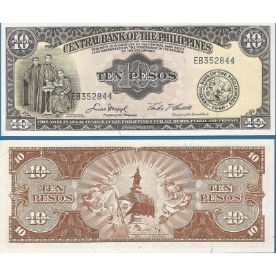 Filipíny - bankovka 10 Pesos 1949 UNC