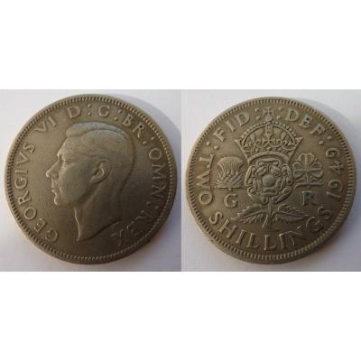 Velká Británie - 2 Shillings 1949