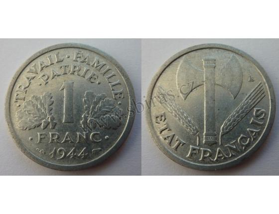 1 Frank 1944 Nazi occupation of France