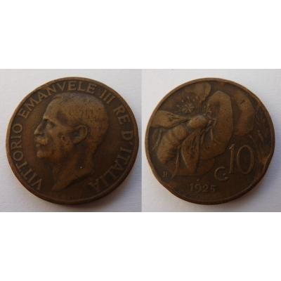 Italské království - 10 centesimi 1925 R