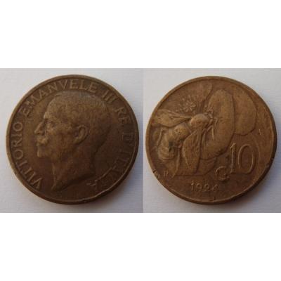Italské království - 10 centesimi 1924 R