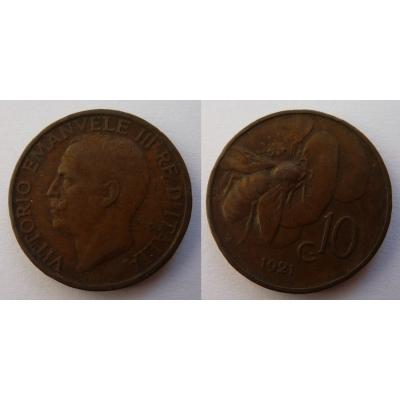 Italy - 10 centesimi 1921 R