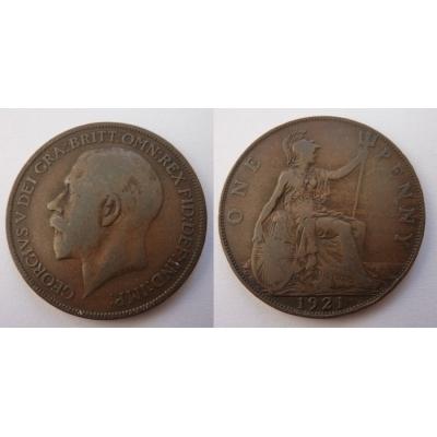 Velká Británie - 1 penny 1921