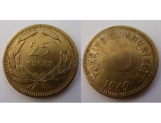 Turecko - 25 kurus 1949