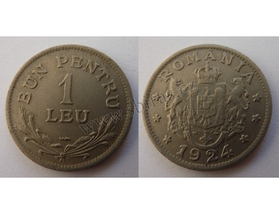 Rumunsko - 1 leu 1924