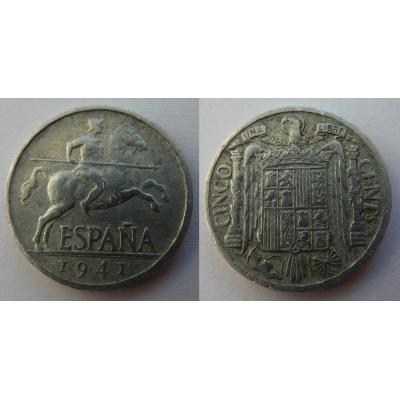 Španělsko - 5 Centesimos 1941