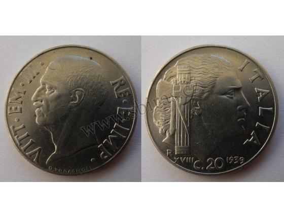 Itálie - 20 Centesimi 1939
