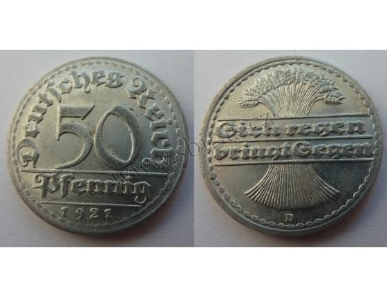 Německo - 50 Pfennig 1921 D
