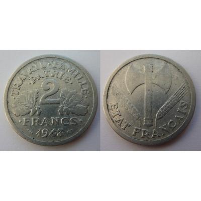2 Franks 1943 Nazi-Besetzung Frankreich