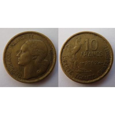 Francie -10 franků 1952
