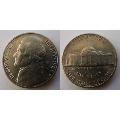 Spojené státy americké - 5 centů 1989 P