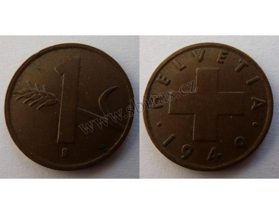 Švýcarsko - 1 Rappen 1949 B