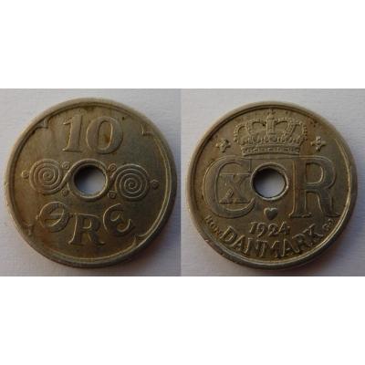 Dánsko - 10 ore 1924