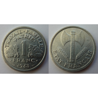1 Frank 1943 Nazi-Besetzung Frankreich