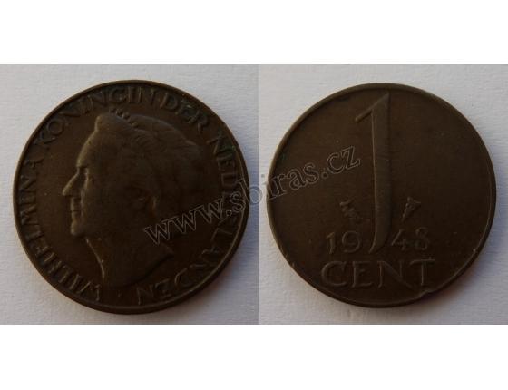 Holandsko - 1 cent 1948