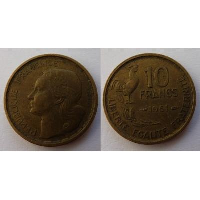 Francie - 10 franků 1951