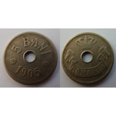 Rumunsko - 5 bani 1905