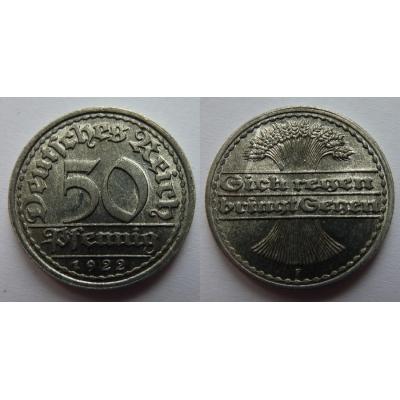 50 Pfennig 1922 F
