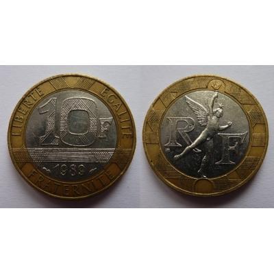 Francie - 10 franků 1989