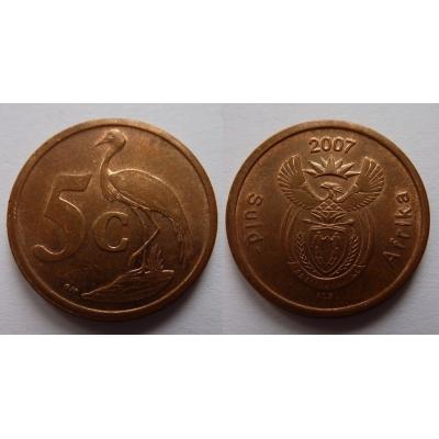 Jihoafrická republika - 5 cents 2007