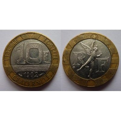 Francie - 10 franků 1992