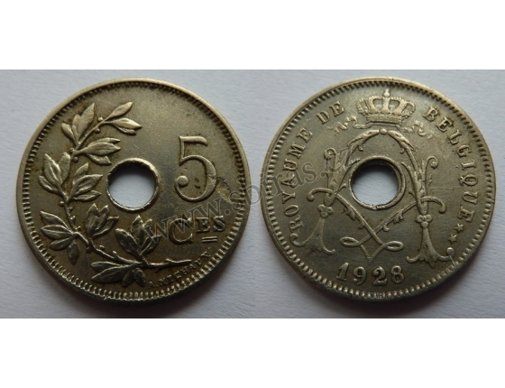 Belgie - 5 Centimes 1928