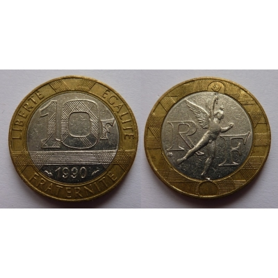 Francie - 10 franků 1990