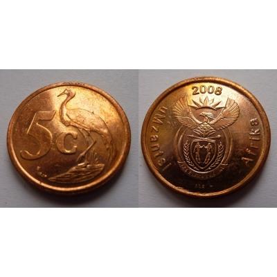 Jihoafrická republika - 5 cents 2008