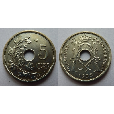 Belgie - 5 Centimes 1932