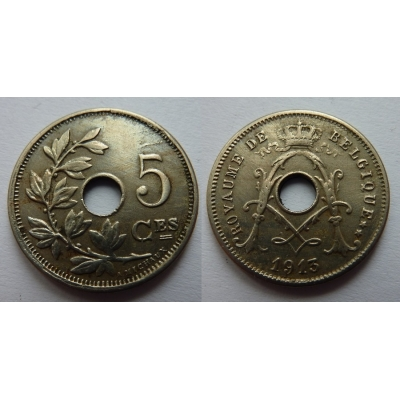 Belgie - 5 Centimes 1913