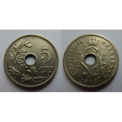 Belgie - 5 Centimes 1914