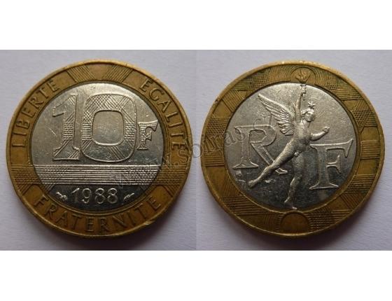 Francie - 10 franků 1988
