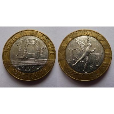 Francie - 10 franků 1991