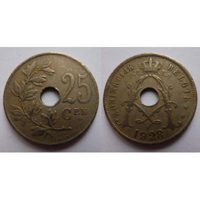Belgie - 25 Centimes 1928