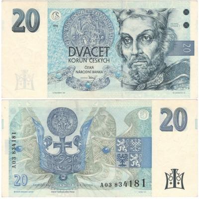 20 korun 1994, série A