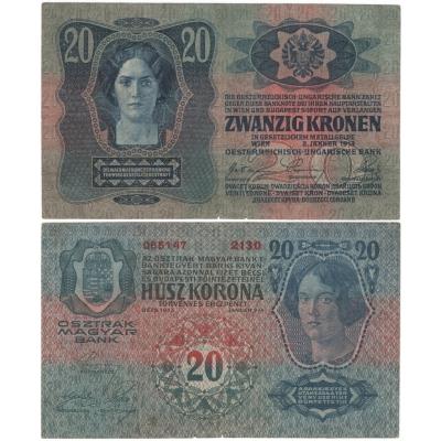 20 korun 1913, I. vydání, bez přetisku