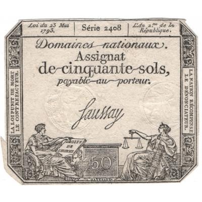 Banknote: France - 50 Sols 1793