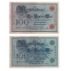Sbírka 21 různých bankovek císařského Německa + album