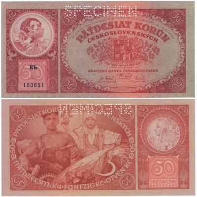 50 korun 1929, stav UNC