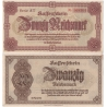 SUDETY - Liberec - nouzová bankovka 20RM Reichenberg Reichsmark 1945