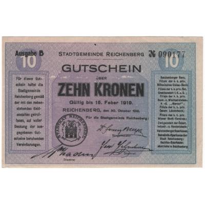 Československo - 30.10.1918, Reichenberg - Liberec