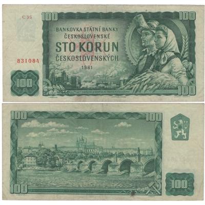 100 korun 1961, série C