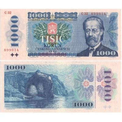 1000 korun 1985 UNC, série C