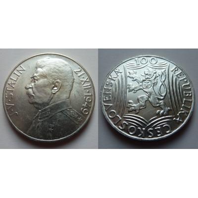 100 korun 1949 - J. V. Stalin