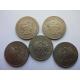Polsko - sada 5 mincí 20 zlotych 1984, 1985, 1986, 1987, 1988