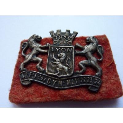Lyon 1926, odznak připínací