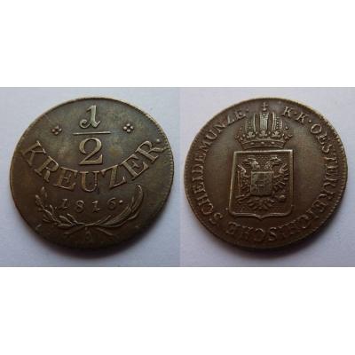František I. - mince 1/2 krejcar 1816 A